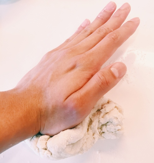 Knead the dough a lot! It will get smoother and more elastic the more you knead it.